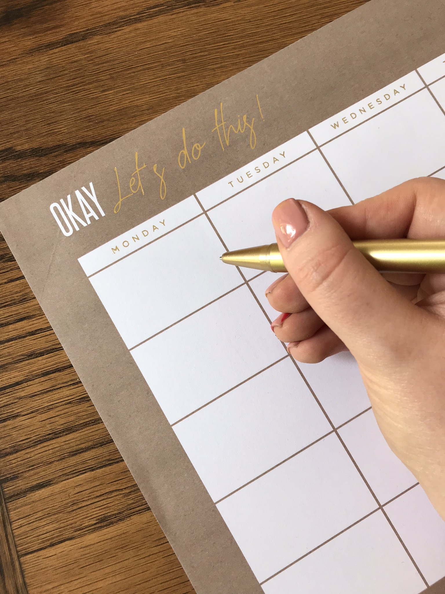 Brand positioning 101 - Danielle's hand writing in a planner