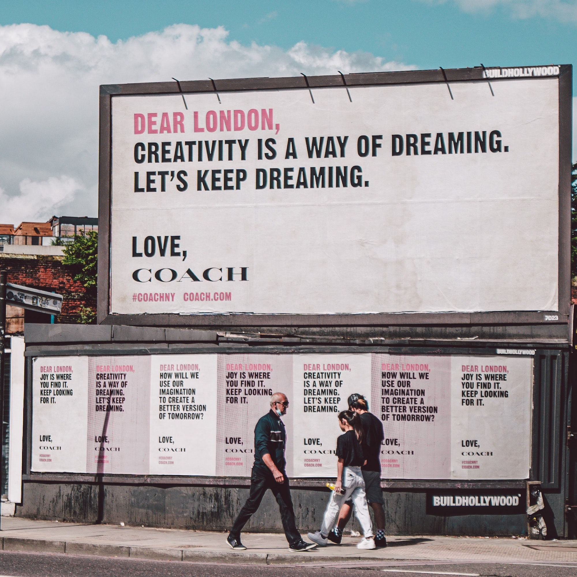Has traditional marketing died a death? Billboard that is advertising Coach fashion brand